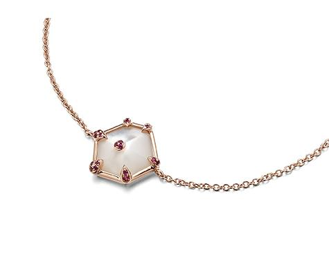 Nova Hexagon Bracelet in Rose Gold