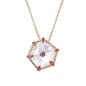 Nova Hexagon Large Pendant in Rose Gold