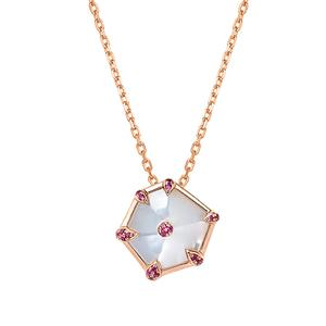 Nova Hexagon Small Pendant in Rose Gold