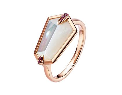 Nova Kite Ring in Rose Gold