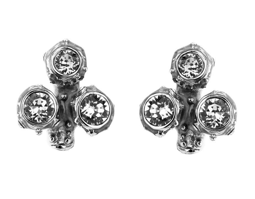 Coral Crystal Cluster Earrings