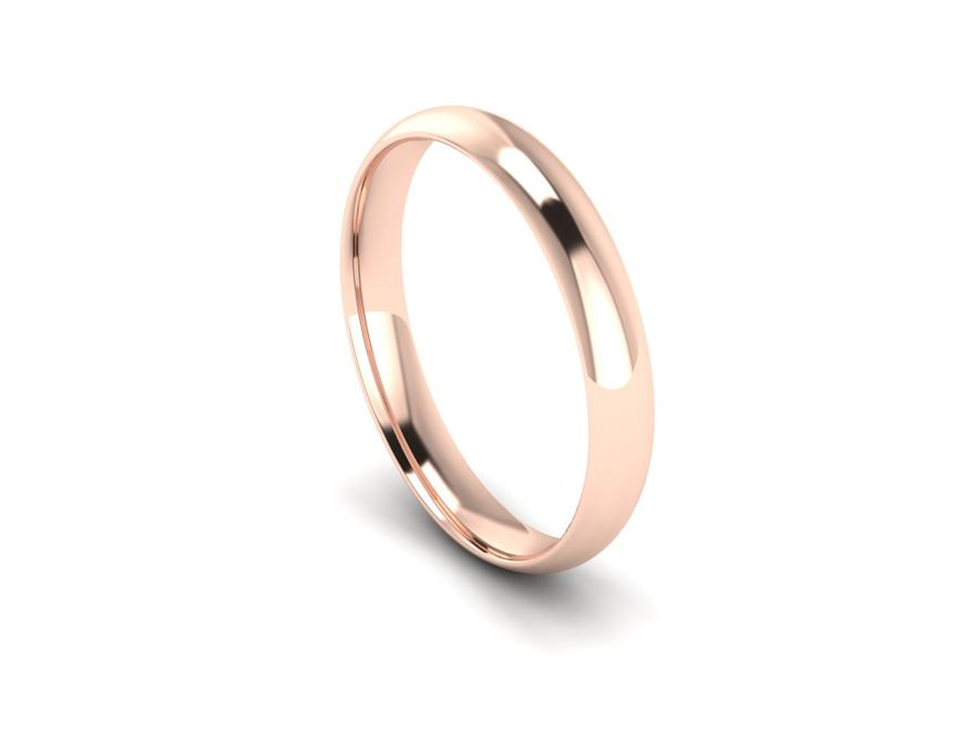 Traditional Court Heavy Weight Band in 18ct Rose Gold
