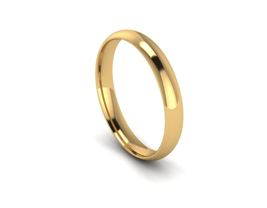 Traditional Court Intermediate Weight Band in 9ct Yellow Gold